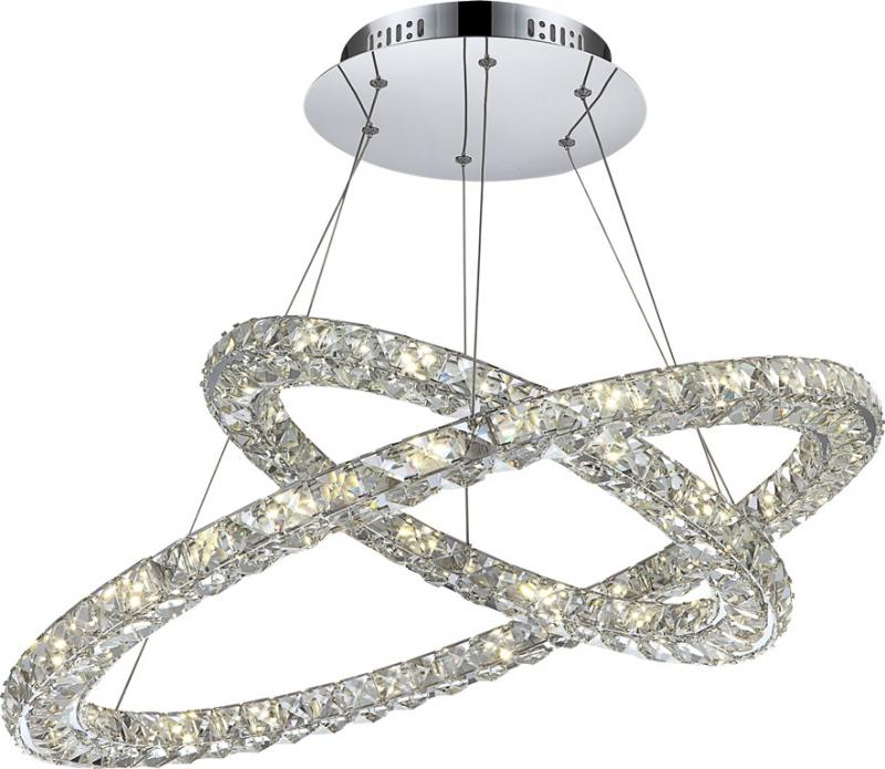 Lustra avangard cu cristale K9, inele reglabile,LED Marilyn 1 67038-64 Globo Lighting