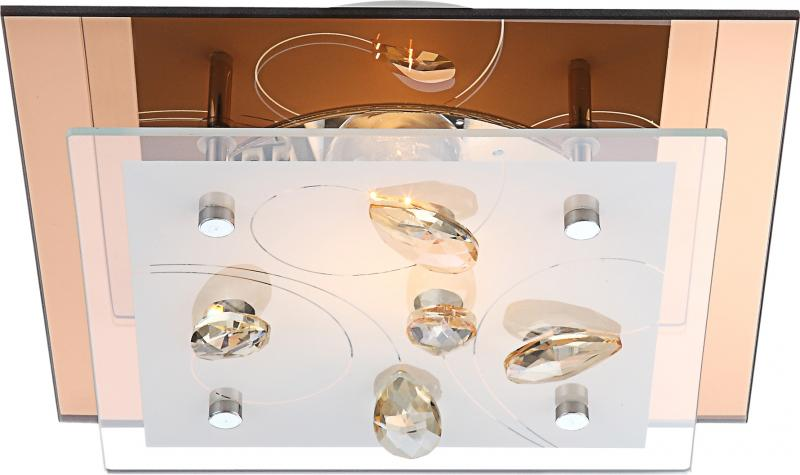 Plafonier cu cristale K5, dim.24x24cm, Ayana 40412 Globo Lighting