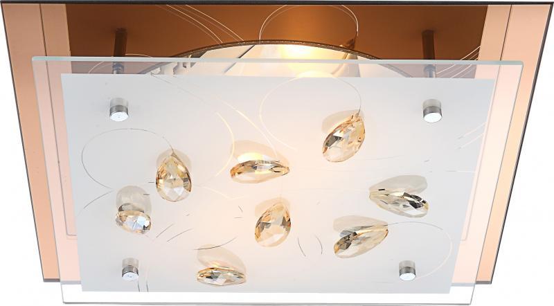Plafonier cu cristale K5, dim.33,5x33,5cm, Ayana 40412-2 Globo Lighting