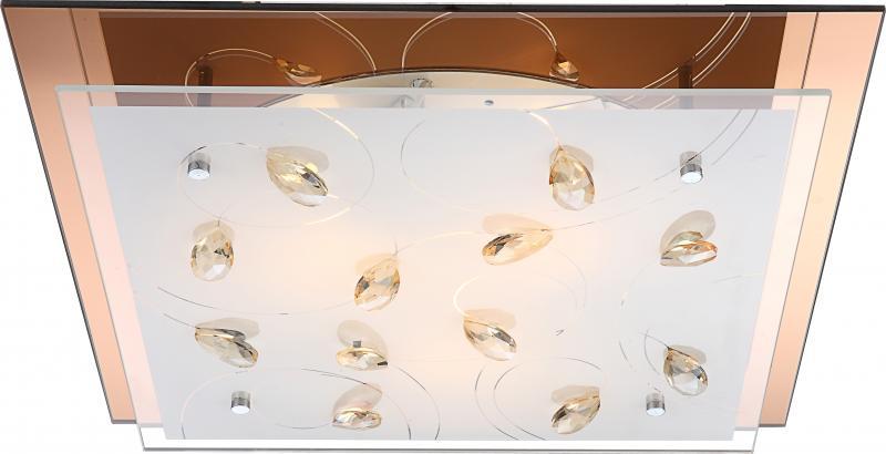 Plafonier cu cristale K5, dim.42x42cm, Ayana 40412-3 Globo Lighting