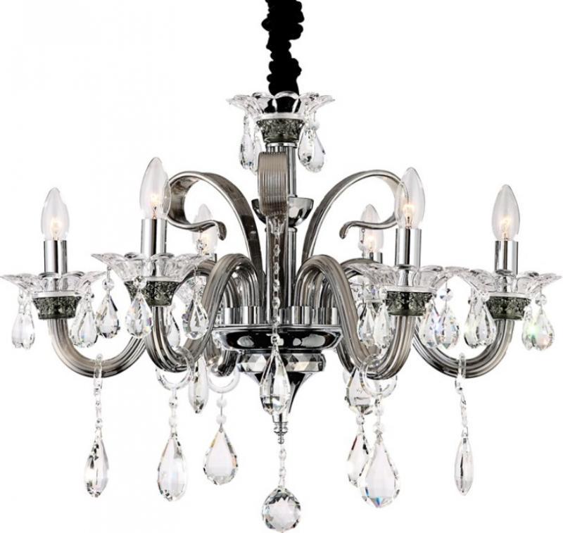Candelabru 6 brate,diametru 70cm,cristal K9 Dunja 64104-6 Globo Lighting