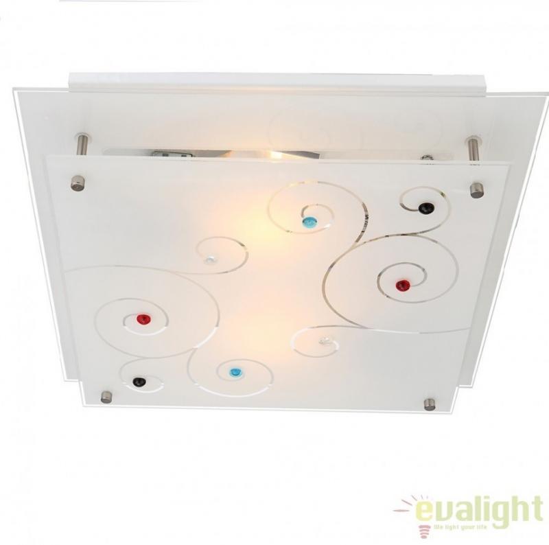 Plafoniera moderna, dim. 32x32cm, Regius 48140-2 Globo Lighting
