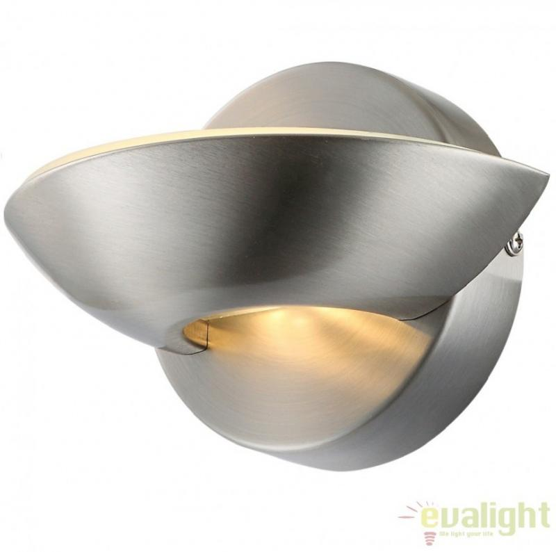 Aplica de perete moderna finisaj nickel matt, dim.16,5x11cm, SAMMY 76001 Globo Lighting
