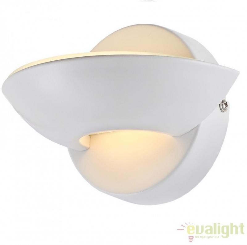 Aplica de perete moderna finisaj alb, dim.16,5x11cm, SAMMY 76003 Globo Lighting