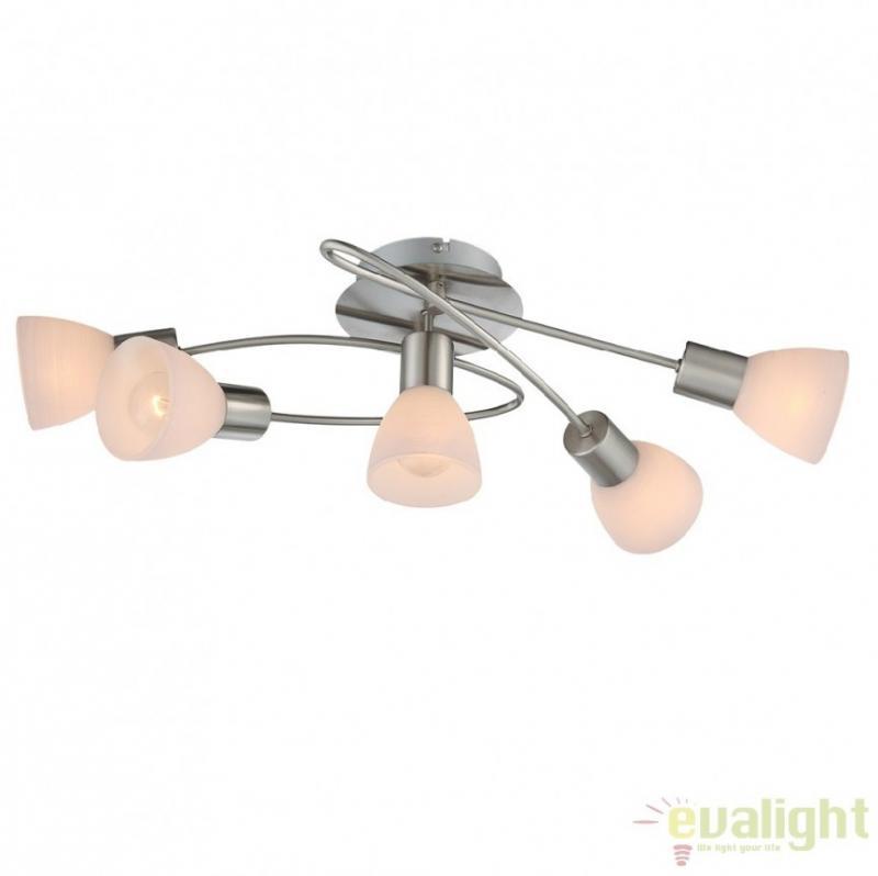 Lustra aplicata / Plafoniera cu 5 spoturi, dim. 61x36,5cm, PANNA 54533-5D Globo Lighting
