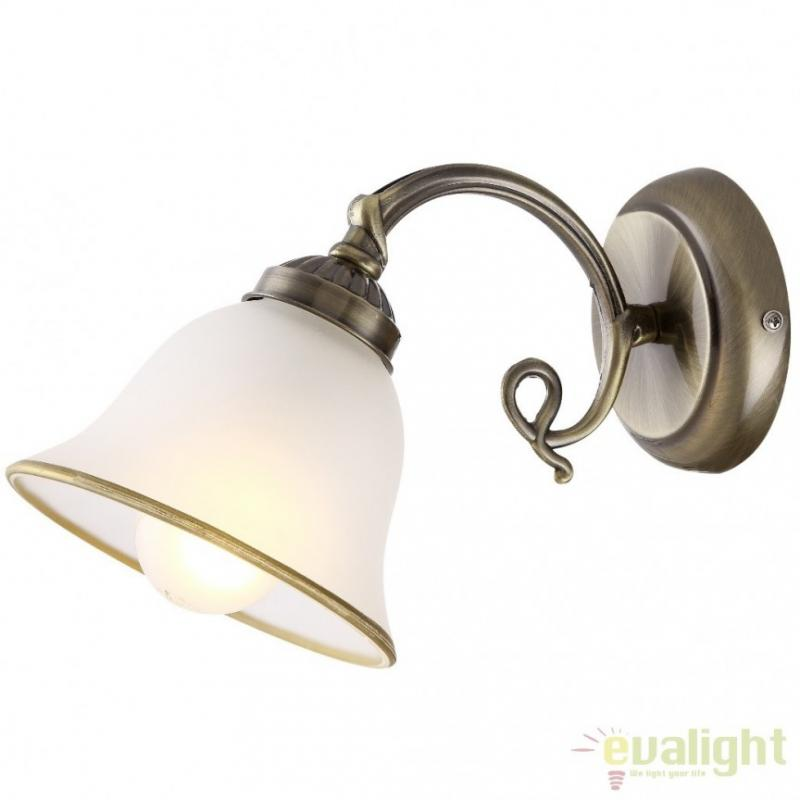 Aplica de perete clasica finisaj brass antique, Odin 60208W Globo Lighting
