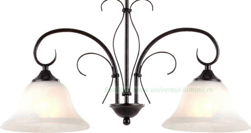Lustra, Candelabru rustic Aries 68410-2 Globo Lighting