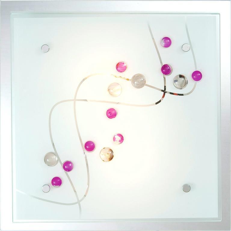 Plafonier cu oglinda si pietre color Ballerina 48072-2