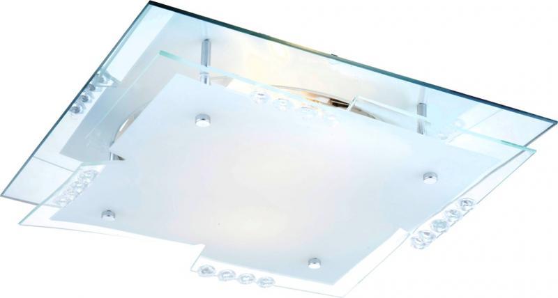 Plafonier cu cristale acrylice 33,5x33,5cm Dubia 48074-2 Globo Lighting