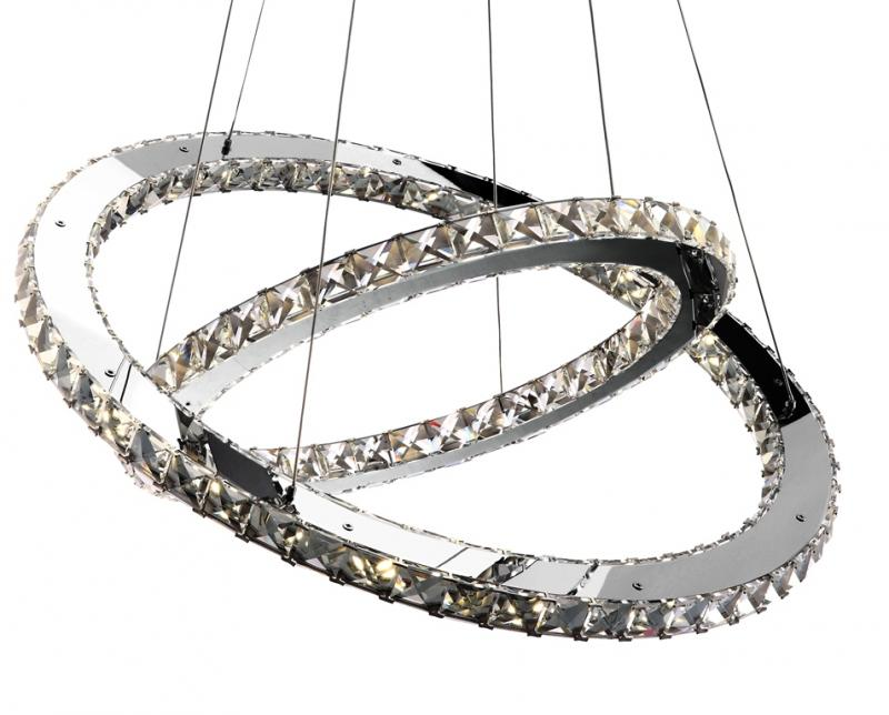 Lustra avangard cu cristale, inele reglabile,LED Marilyn 67032-60 Globo Lighting