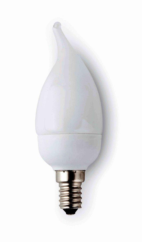 Bec energy saving decorativ candle E14 9Watt warm light 16210 Faro Barcelona, corpuri de iluminat, lustre