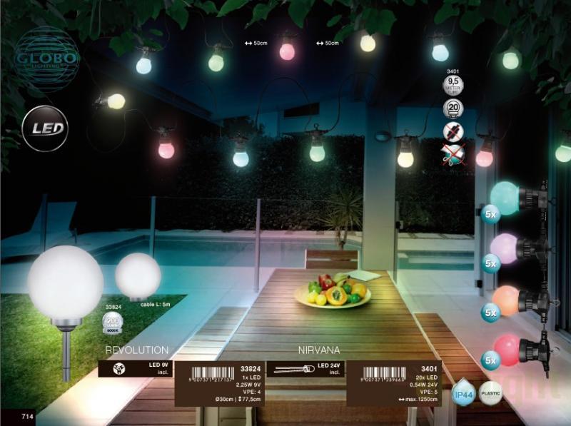 decoratiuni exterior 9 5m 20becuri multicolor led nirvana 3401 globo lighting universul. Black Bedroom Furniture Sets. Home Design Ideas