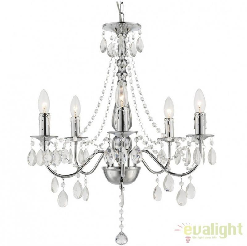 Candelabru modern cu 5 brate, diam.51cm, William 63129-5 Globo Lighting, corpuri de iluminat, lustre