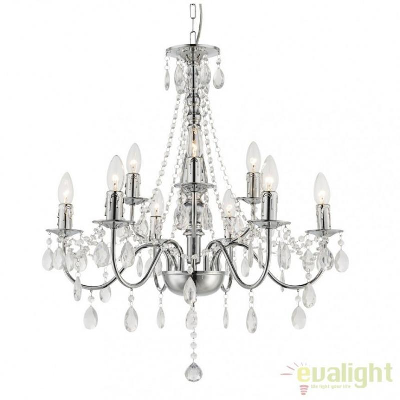 Candelabru modern cu 9 brate, diam.63cm, William 63129-9 Globo Lighting, corpuri de iluminat, lustre