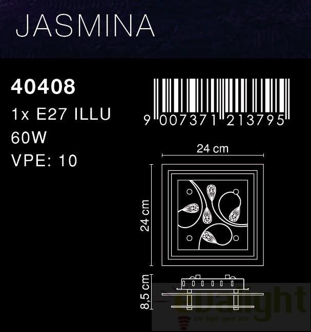 aplica plafonier cu cristale jasmina 40408 2 globo lighting globo lighting corpuri de. Black Bedroom Furniture Sets. Home Design Ideas